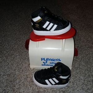 Pre-owned worn 1x kids high top adidas